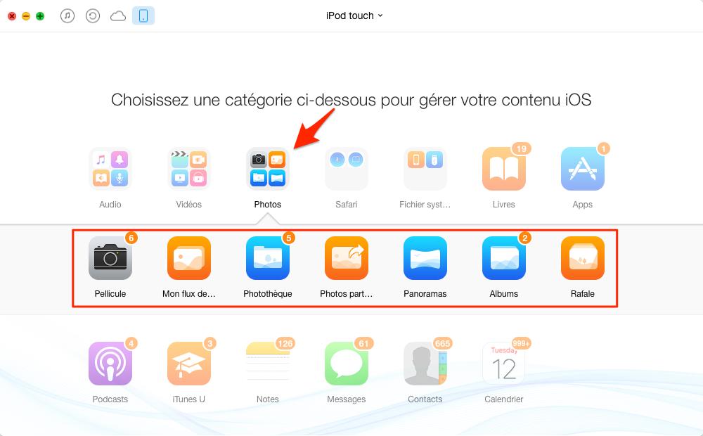 Supprimer facilement les photos iPod touch – étape 2