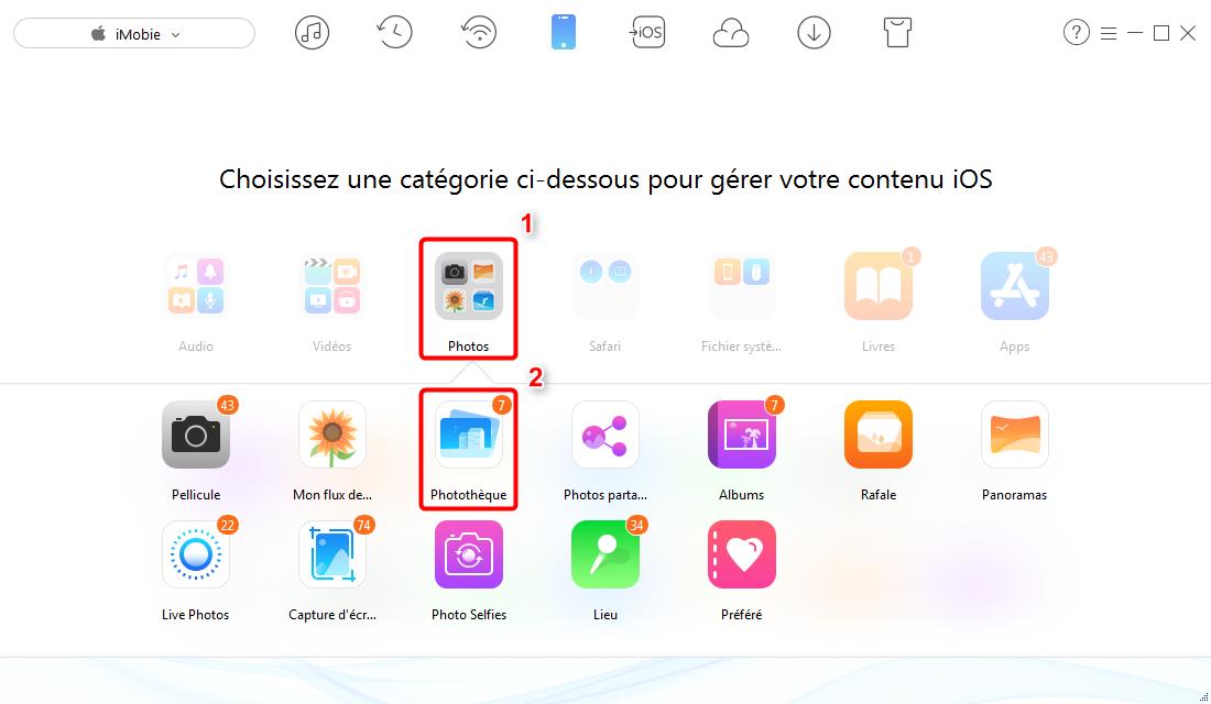 Comment supprimer des photos synchronisées de l'iPhone 6/6s - étape 2