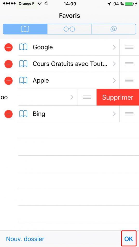 Comment effacer un signet de l'iPhone 7 dans Safari – étape 2