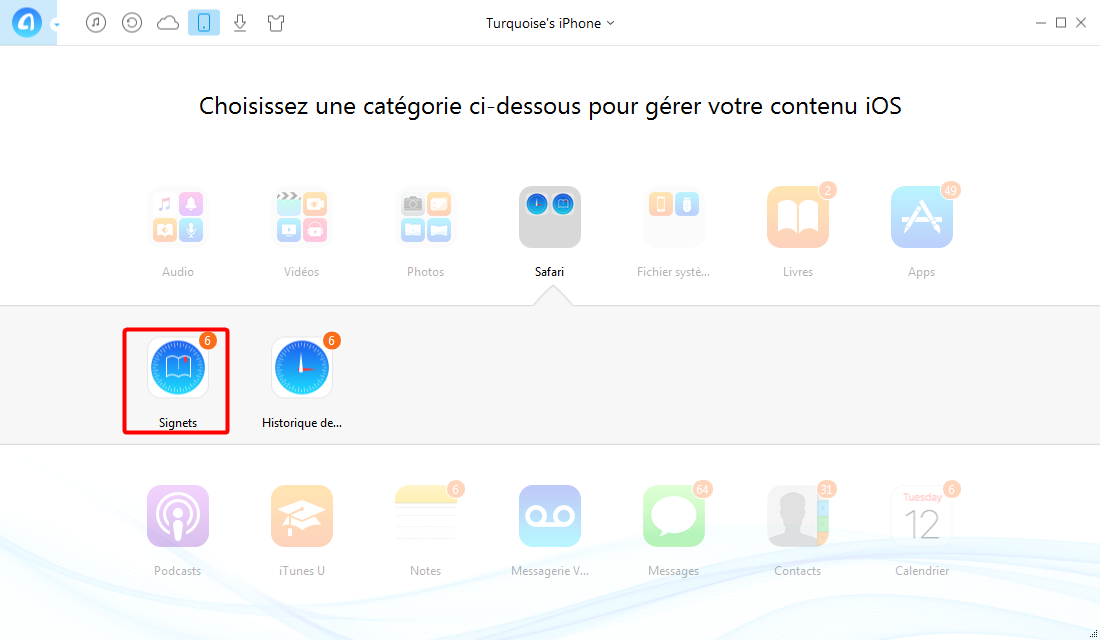 Comment supprimer les signets Safari dans un iPhone 7 – étape 2
