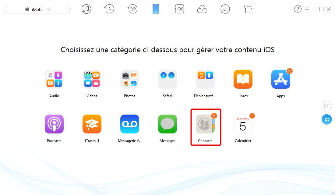Effacer tous les contacts sur iPhone iPad - étape 2