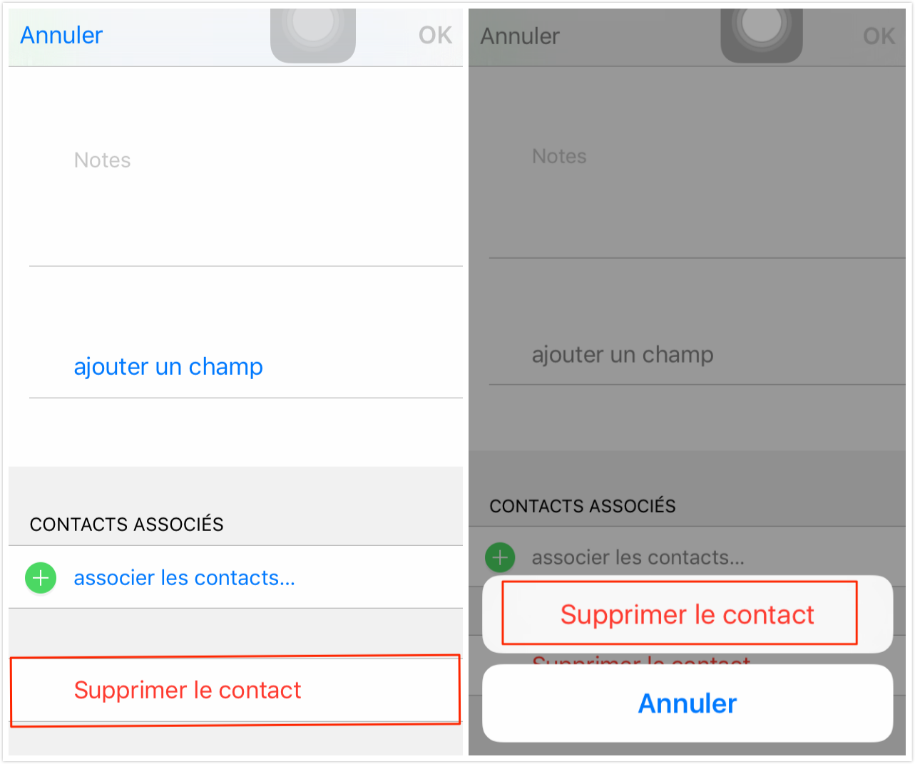 Comment supprimer un contact sur iPhone individuellement
