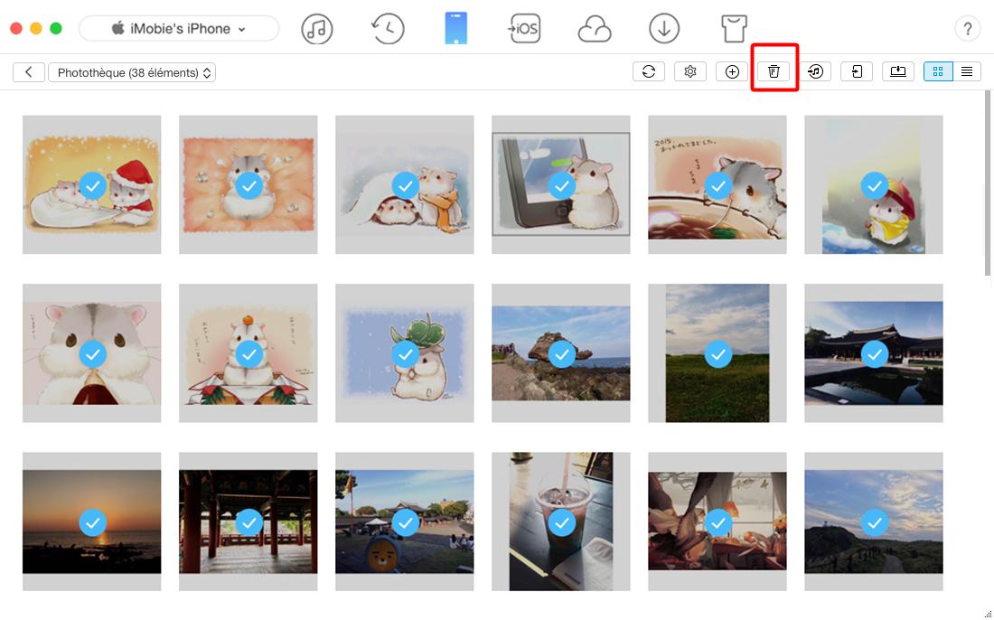 Comment supprimer toutes les photos sur iPhone 4/5/6/7/SE – étape 2
