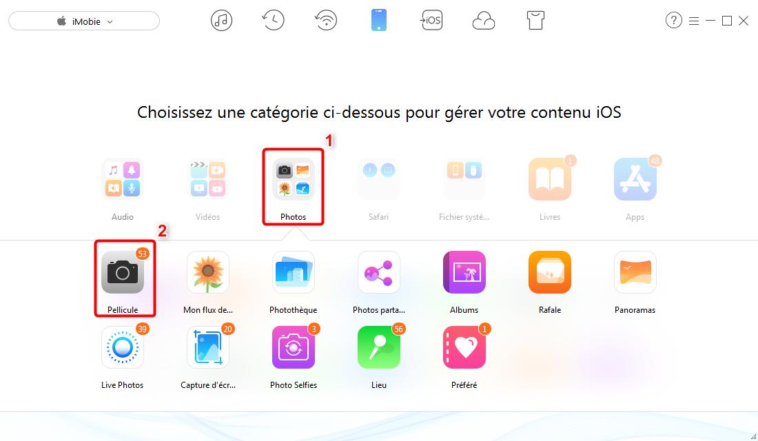 Comment supprimer toutes les photos de l'iPhone 7 - étape 2