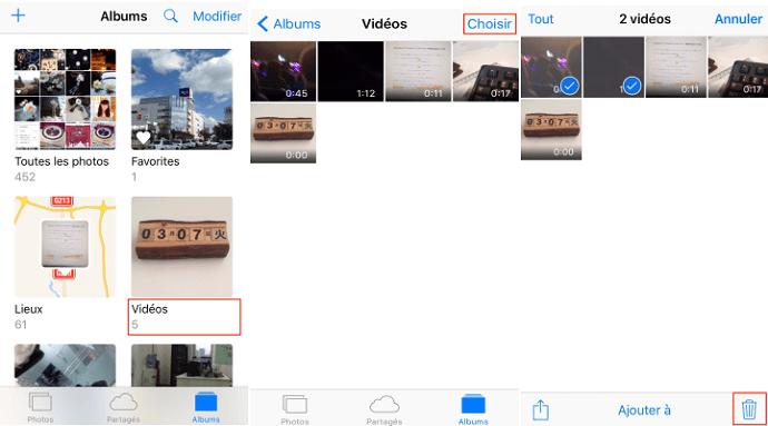 Comment supprimer les vidéos inutiles sur iPad