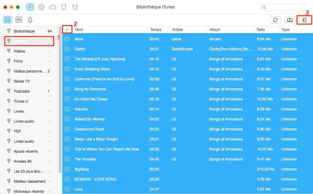 Comment transférer la bibliothèque iTunes vers iPhone 6/6s – étape 2