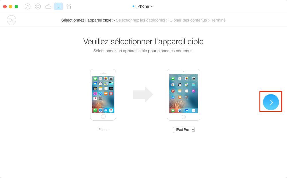 Synchroniser les calendriers de l'iPhone vers l'iPad - étape 2
