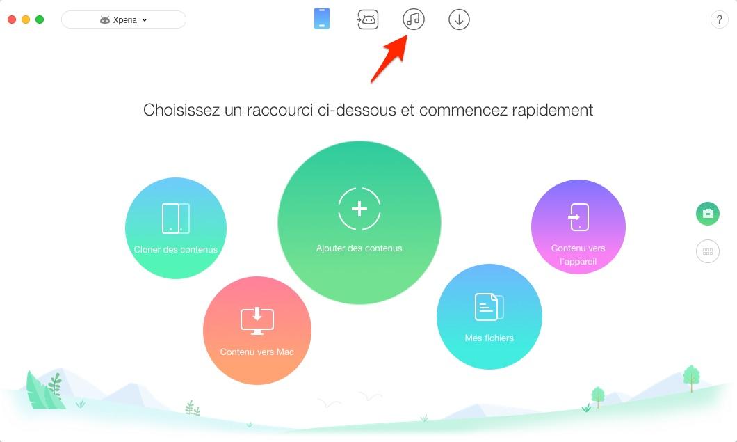 Synchroniser les données iTunes vers Android - étape 1