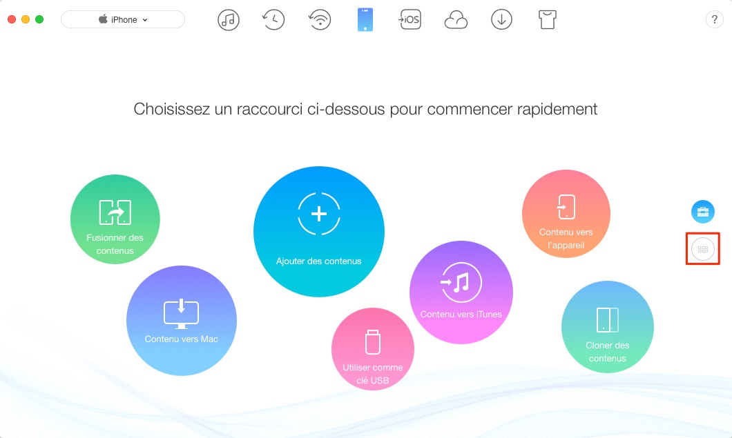 Comment synchroniser contacts iPhone vers Mac – étape 1