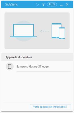 Connexion entre le téléphone Samsung et l'ordinateur - étape 1