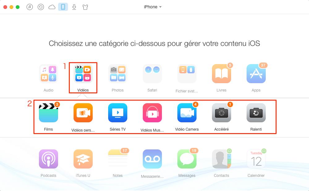Comment transférer les vidéos d'ordinateur vers iPhone 7 – étape 2