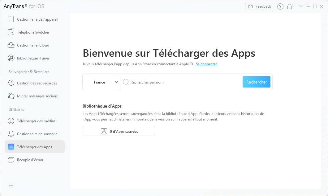 Télécharger des Apps