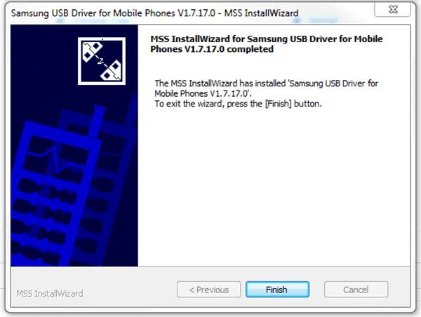 Installation de Samsung USB Driver