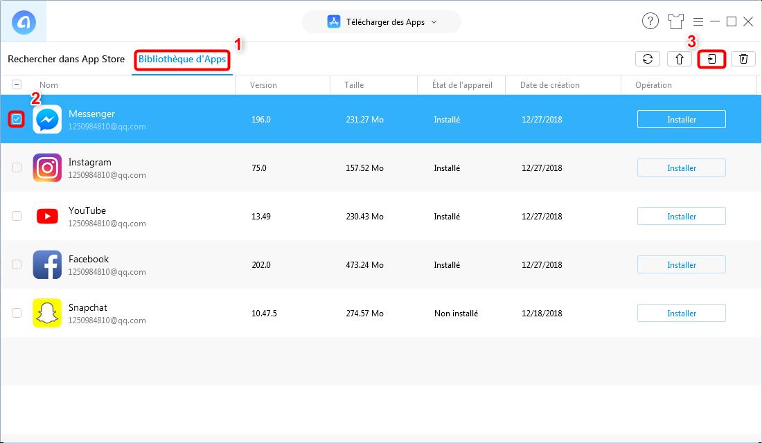 Comment downgrader Messenger sur iPhone - Étape 4