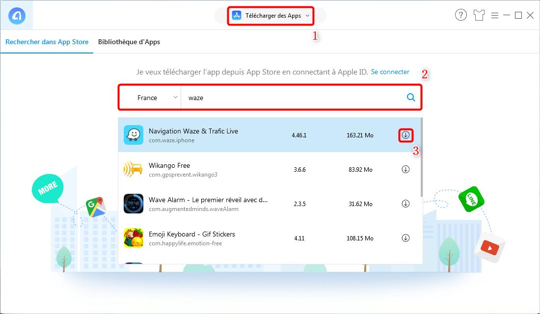 Comment downgrader l'app Waze sur iPhone