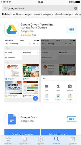 Télécharger Google Drive sur l'iPhone