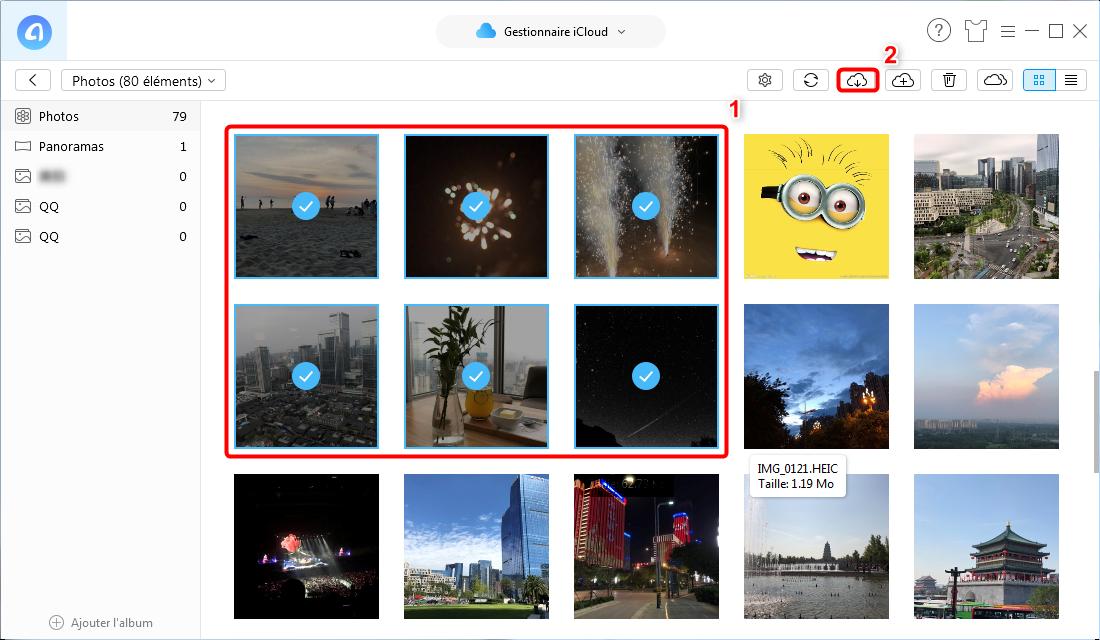Voir photos sur iCloud avec AnyTrans pour iOS – étape 4