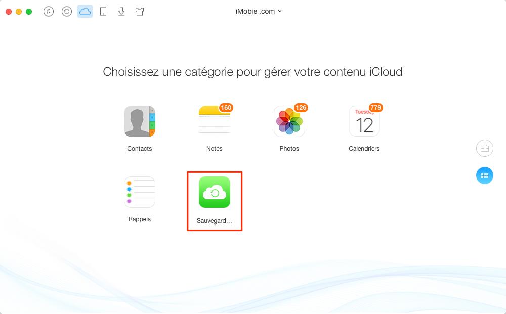 Comment extraire des vidéos sur iCloud vers ordinateur – étape 2
