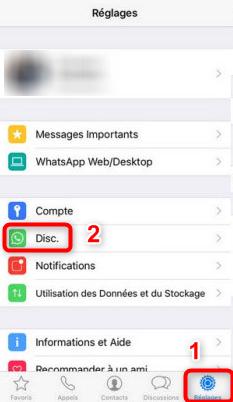Ouvrir WhatsApp sur iPhone - étape 1