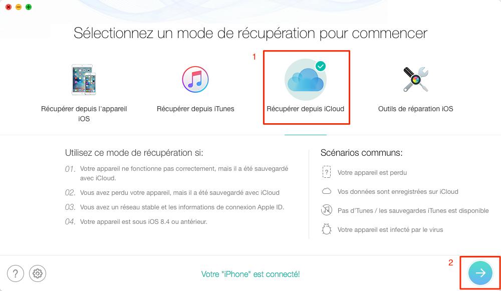 Comment télécharger une sauvegarde iCloud – étape 1
