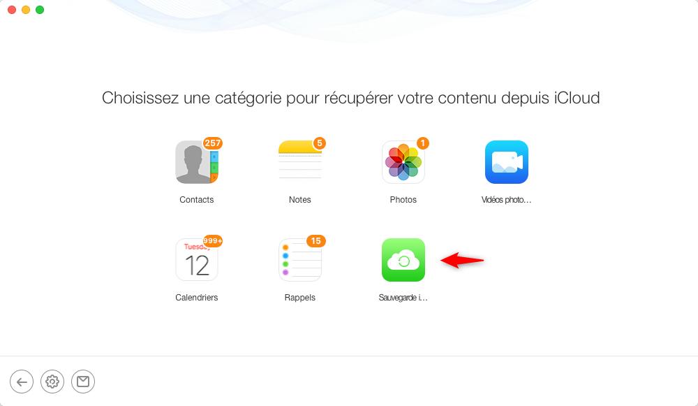 Comment récupérer une sauvegarde iCloud - étape 2