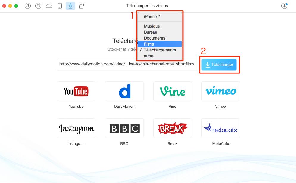 Télécharger vidéo YouTube, Vimeo, Dailymotion en ligne – étape 2