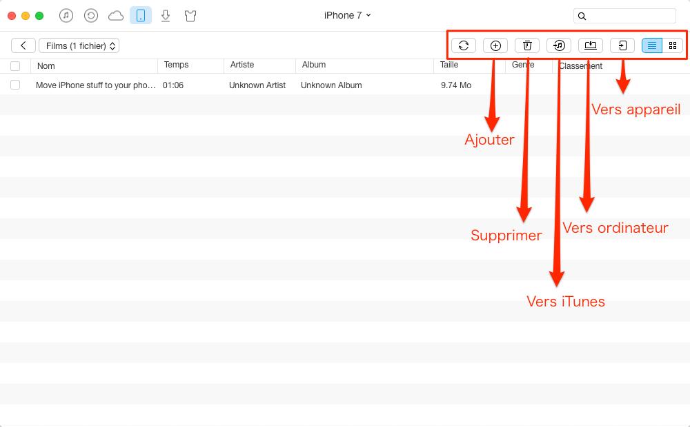 Gérer les vidéos sur iPhone/iPad