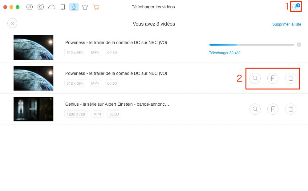 Comment télécharger vidéos sur iPad mini/Air/Pro – étape 3