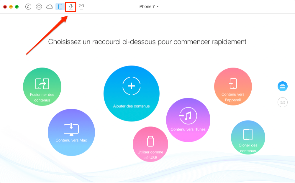 Comment télécharger des vidéos sur iPhone 7/7 Plus – étape 1