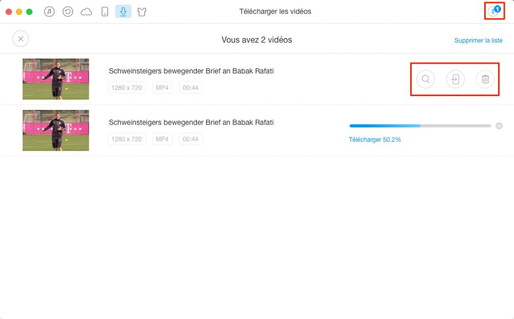 Comment télécharger des vidéos des web sites – étape 3