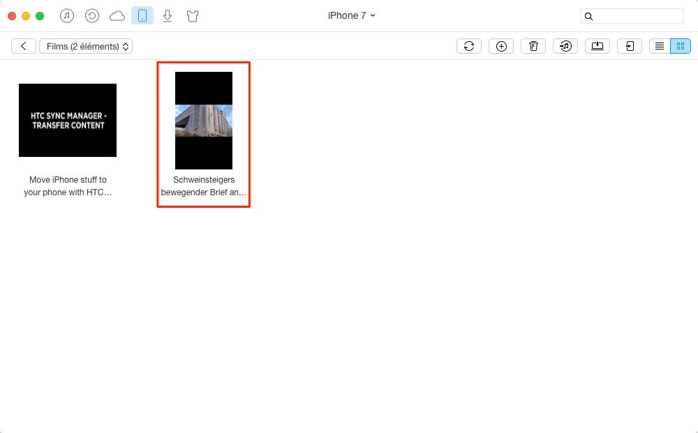 Télécharger des vidéos sur iPhone 7 avec facilité – étape 4