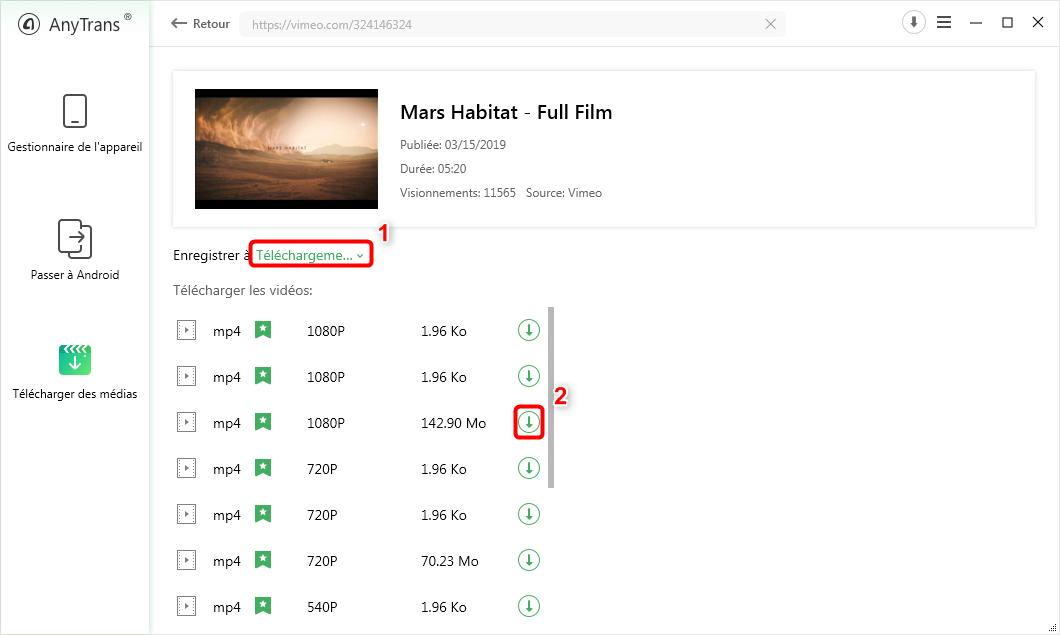 Télécharger gratuitement les vidéo sur Vimeo