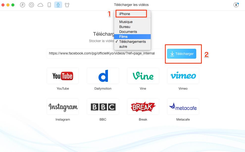 Télécharger une vidéo Facebook sur iPhone – étape 3