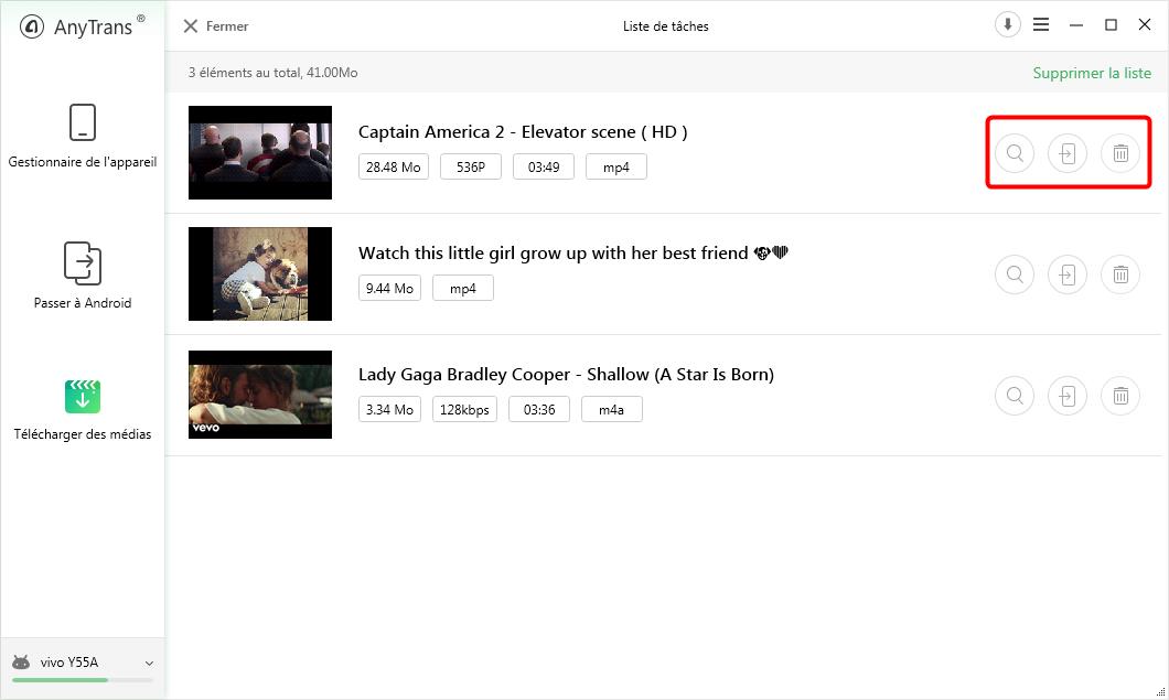 Téléchargement de vidéos YouTube sur Android - étape 3