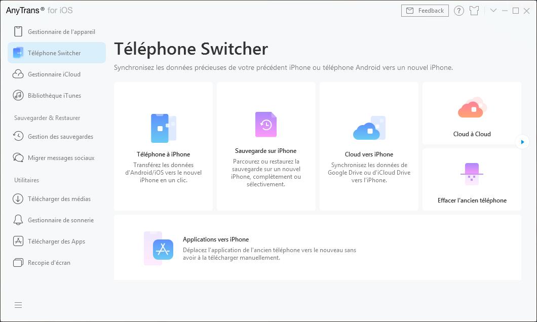 Téléphone Switcher
