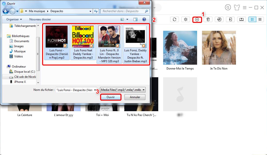 Transférer des chansons YouTube MP3 sur iPhone iPad - Étape 3