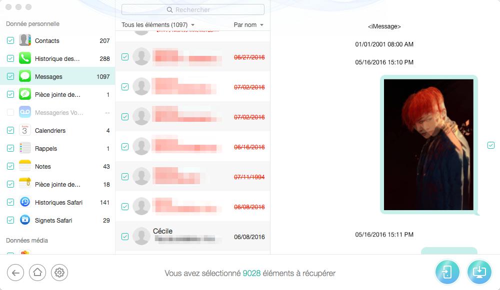 Extraire les messages de sauvegarde de l'iPhone avec PhoneRescue – Récupération de données iOS