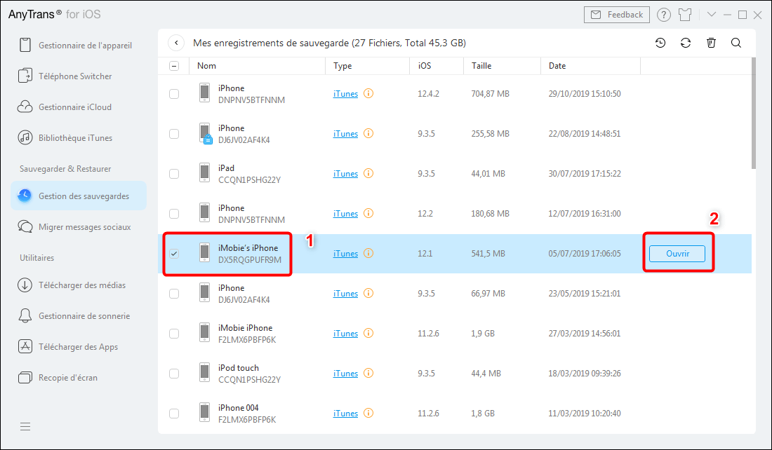 Comment extraire les données iTunes vers ordinateur – étape 3