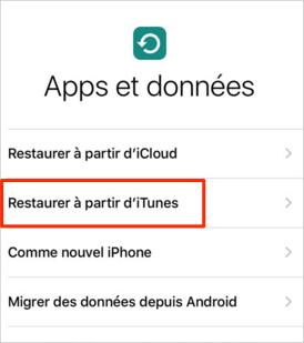 Restaurer sauvegarde iPhone sur un autre iPhone via iTunes