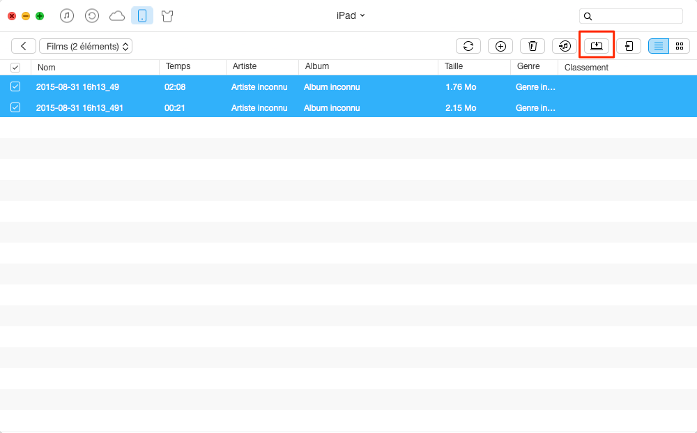 Transférer les fichiers iPad Air vers PC/Mac – étape 3