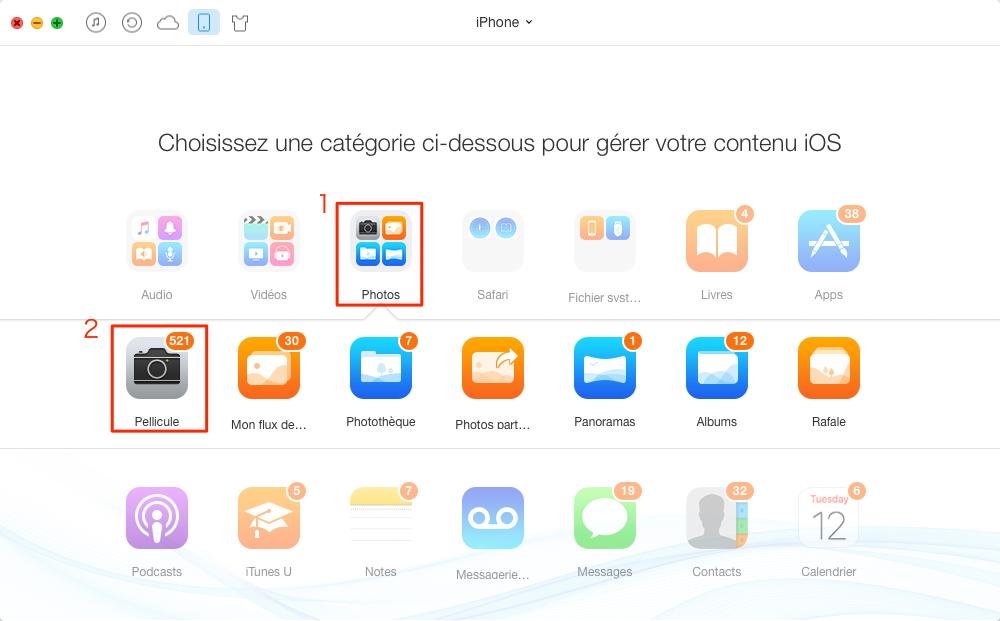 Transférer des photos iPhone vers Mac – étape 2