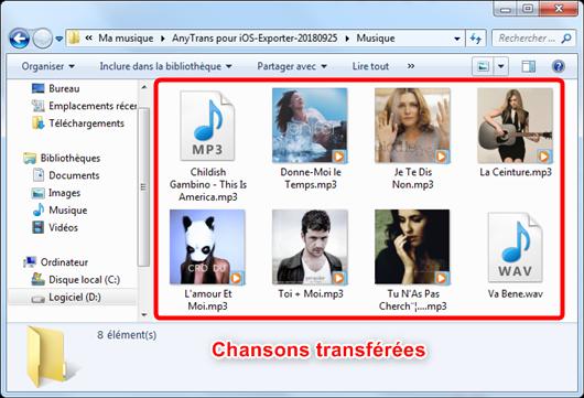 Transfert de la musique iPod vers ordinateur PC/Mac – étape 4
