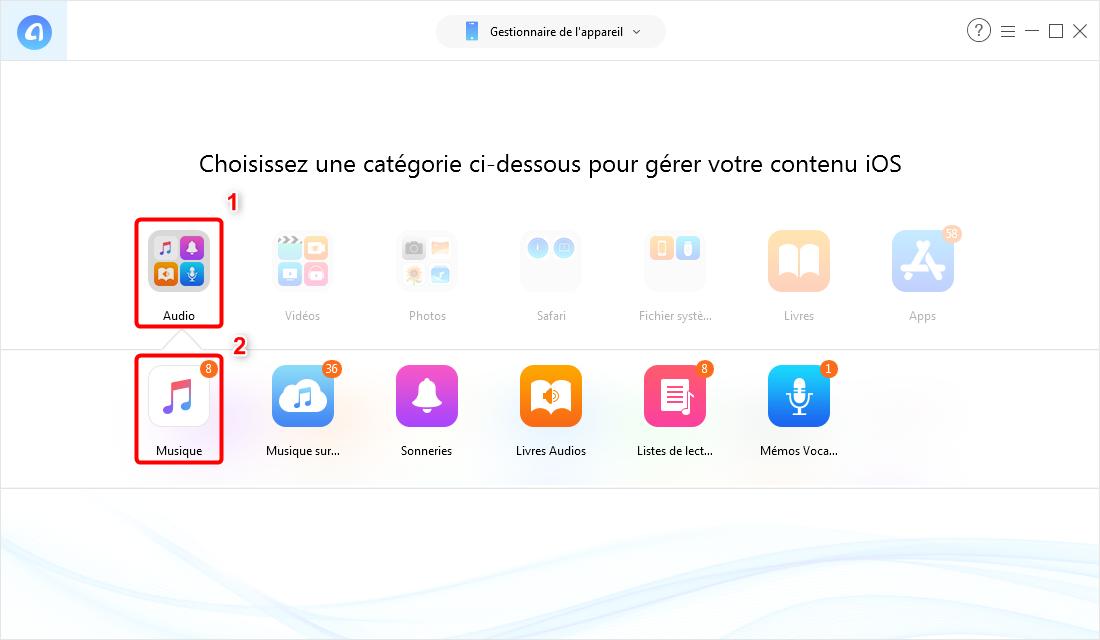 Mettre de la musique sur iPod (touch) sans iTunes – étape 2