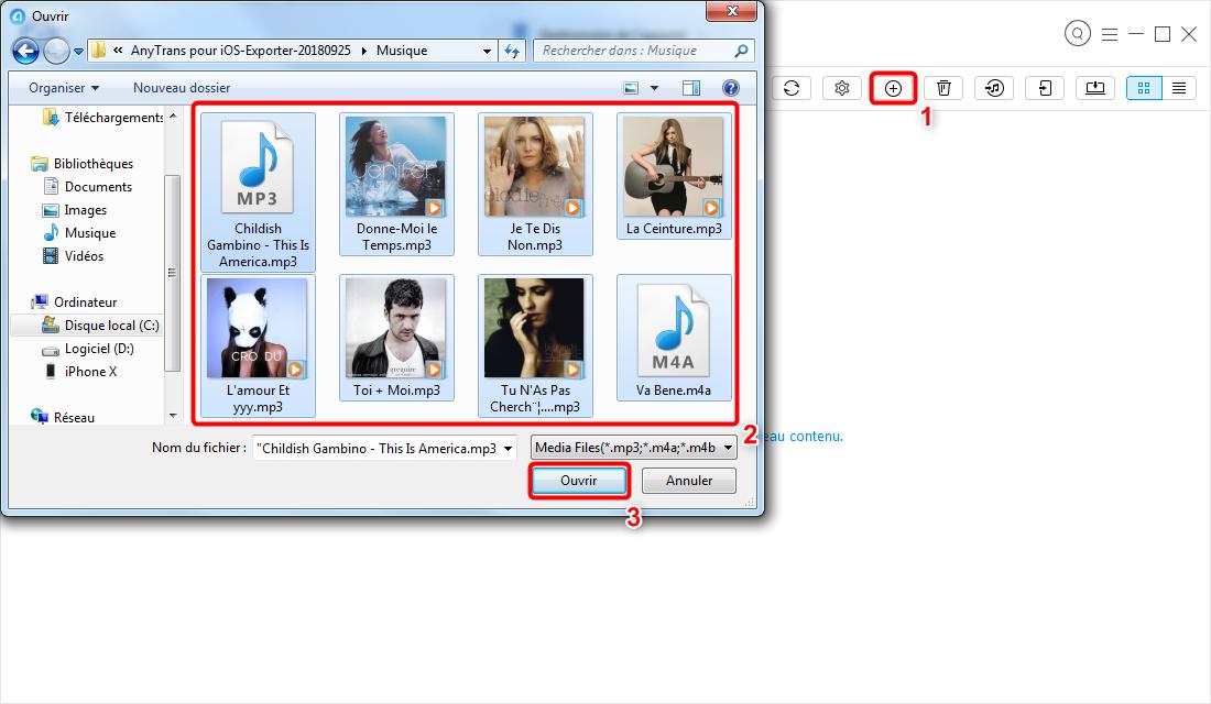 Transférer de la musique d'ordinateur vers iPod (touch) sans iTunes – étape 3