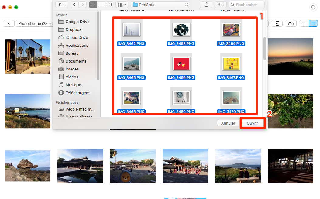 Comment importer les photos Mac vers iPhone via AnyTrans pour iOS - étape 3