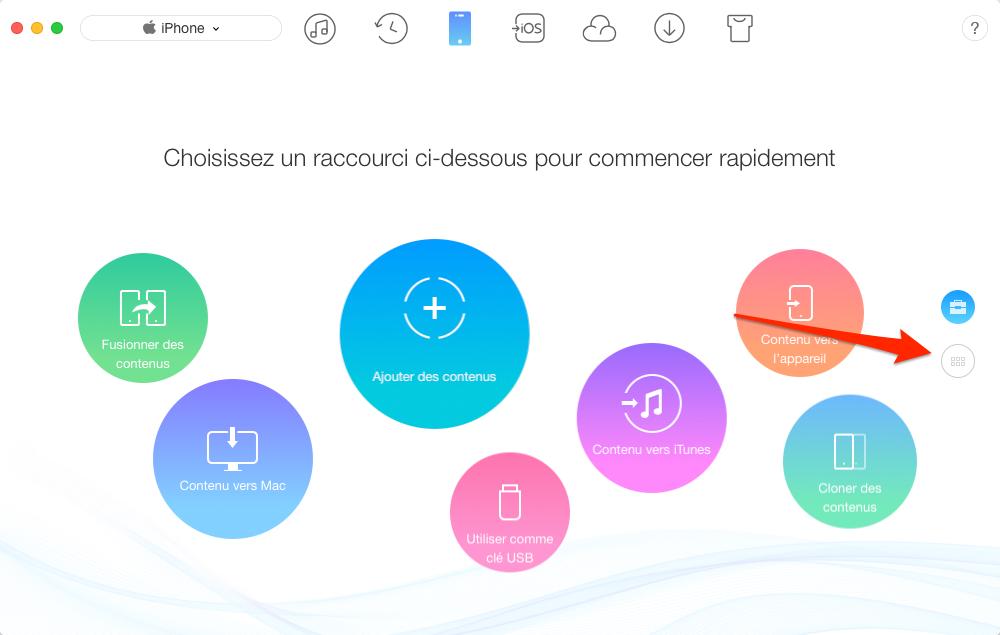 Transférer les photos Mac vers iPhone via AnyTrans - étape 1
