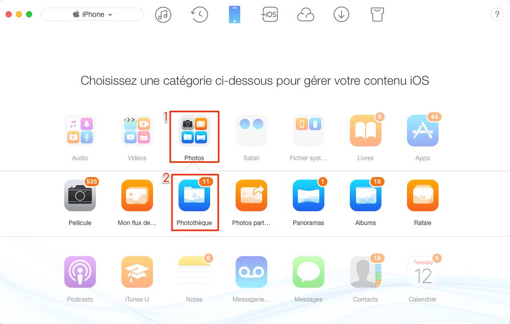 Transférer les photos Mac vers iPhone avec facilité - étape 2