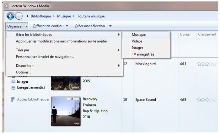 Comment transférer la musique entre Lecteur Windows Media et iTunes 4