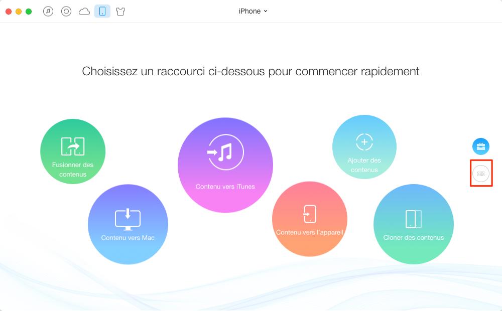 Comment transférer les musiques iPhone vers iTunes – étape1