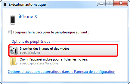 Importer les albums photo iPhone vers PC